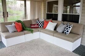 build outdoor sectional with storage astounding building a sectional sofa in diy wood plansdiy frame