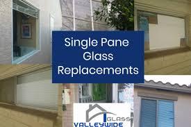 single pane window glass replacement company logo