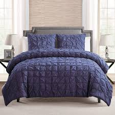 100 cotton 3 piece solid navy blue pinch pleat duvet cover set navy duvet cover king
