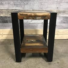 wood end tables. Cancun Industrial Reclaimed Wood End Table Tables A