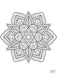 Floral Mandala Coloring Page Free Printable Pages Chronicles Network