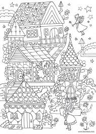 Small Picture Fairy House printable adult coloring page Zentangles Adult
