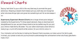 Supernanny Reward Charts Mom Wife