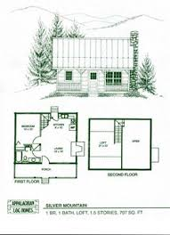 Small Picture Small Cabin Plan with loft Cabin house plans Cabin and Lofts