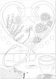 初心者卒業をイメージした紫陽花の花の大人の塗り絵テンプレート