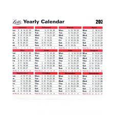 Yearly Desktop Wall Calendar 2020