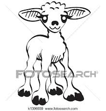 かわいい 漫画 子羊 イースター クリップアート クリップアート