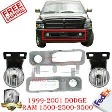 Fog Lights For Dodge Ram 1500 Details About Bumper Sight Shield Fog Light Cover Fog Lights For 99 01 Dodge Ram 1500 3500