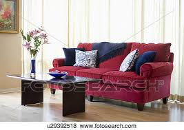 red sofa pillows. Delighful Red Picture  Red Sofa With Blue Accent Throw Pillows Fotosearch Search  Stock Photos To Sofa Pillows C
