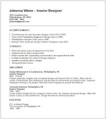 Gallery Of Interior Design Free Resumes Interior Design Resume