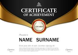Black With Golden Certificate Template Vectors 01 Free Download