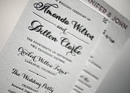 sample wedding program wording wording and etiquette ideas for wedding programs from bella figura