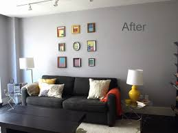 the gallery grey feature wall living room amazing design
