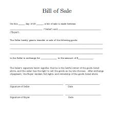 Easy To Use Bill Of Sale Word Template 1126