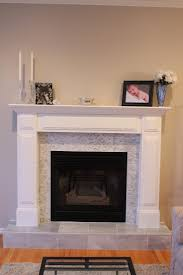 tile around fireplace tile over brick fireplace before and after google