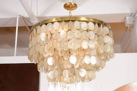 capiz shell chandelier model