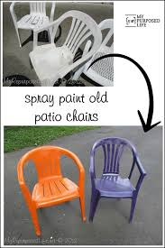 Spray Painted Plastic Outdoor Chairs {update: one year later ...