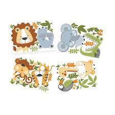 lolli living decal set animals clocks wall decoration nursery baby bunting