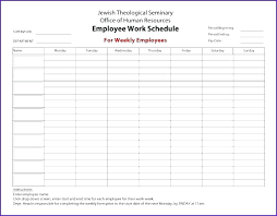 Weekly Work Schedule Template Excel 4 Day Week Hour Days Microsoft