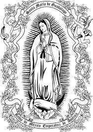 Lady Of Guadalupe Coloring Page Juan Diego Tilma With Regard To