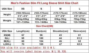 Slim Fit Shirt Size Chart Rldm