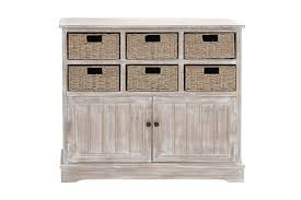 wicker basket cabinet. Brilliant Cabinet Rustic Country Inspired Storage Cabinet With 6 Wicker Basket Drawers In  Distressed Whitewash From Gardner On H