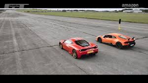 James may joins us in italy to put the new ferrari portofino through its paces, and we discover whether he live up to his top gear reputation as 'captain slow.' we also find out may's favourite travel games, and why the new audi a3 is a warrior when it comes to battling co2. The Grand Tour The Grand Tour Lamborghini Huracan Performante Vs Ferrari 458 Speciale Facebook