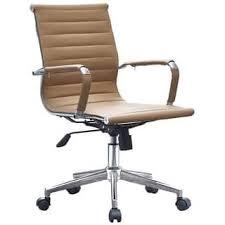 office leather chair. 2xhome - Tan Modern Ergonomic Mid Back PU Leather Executive Office Chair  Ribbed Swivel Tilt Conference Office Leather Chair