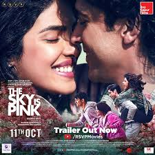 Romantic Movie Poster The Sky Is Pink Romantic Emotional Movie Poster Bollywood