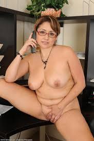 Mature BBW Chubby Fat Secretary Jessica Zara with Saggy Tits.