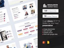 Company Presentation Template Ppt Megalodon Company Profile Powerpoint Presentation Template