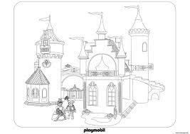 Coloriage Chateau Roi Reine Princesse Playmobil Dessin