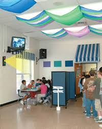 Striped classroom light filters