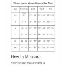 Wilsons Leather Size Chart Motorcycle Leather Jacket