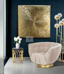 gold leaf painting large wall art gold