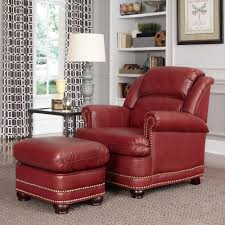 leather chair styles. Beautiful Chair Home Styles Winston Red Faux Leather Arm Chair With Ottoman On E