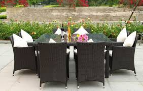 attractive square outdoor dining table for 8 room