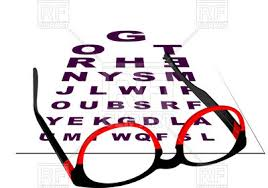 Snellen Chart And Spectacles Stock Vector Image