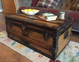 coffee table trunk chest coffee table