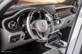 Tonneau stylebar coated with brown paint. 2018 Mercedes X Class By Carlex Design Top Speed