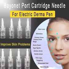 50PCS Electric Derma Pen Micro <b>Needles</b> Bayonet 9/<b>12/24/36</b>/<b>42</b> ...