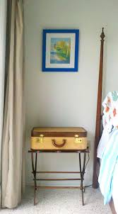 Suitcase Nightstand beach bedroom makeover from small study to summery guest retreat 2261 by guidejewelry.us