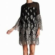 Erin Fetherston New Black Womens Size 2 Lace Embroidered