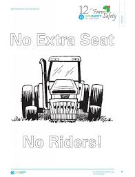 Farm Tractor Coloring Pages Teach Youth Safety Resources And Blog