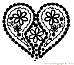Small Picture Lacy Heart Coloring Page Free Heart Coloring Pages