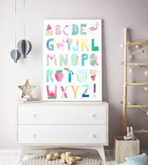watercolour alphabet print alphabet