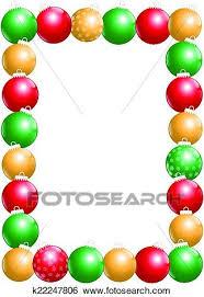 Clip Art Of Christmas Balls Frame Vertical K22247806 Search