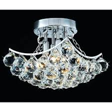 crystal flush mount light metropolitan crystals flush mount light