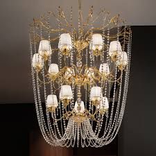 classic crystal chain gold chandelier
