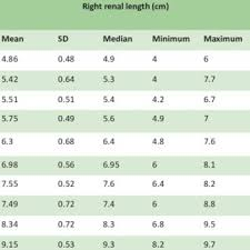 Right Renal Length In Healthy Children With Normal